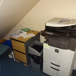 Do not store photo-copiers under stairs